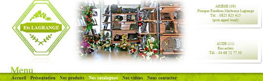 POMPES FUNEBRES ET MARBRERIE LAGRANGE (Tourtrol, Pamiers, Foix, Lavelanet, Mazères, Tarascon - Ariège-Pyrénées - 09). -  www.pompesfunebres-lagrange.fr