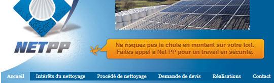EIRL LAÏLLE NetPP - Nettoyage Panneaux Photovoltaïques - 09800 AUGIREIN - www.nettoyage-panneauxphotovoltaiques.fr