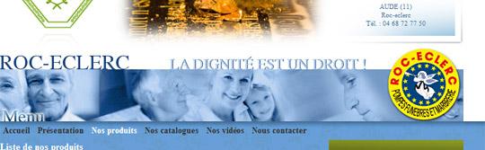 POMPES FUNEBRES ET MARBRERIE ROC-ECLERC (Carcassonne, Castelnaudary, Limoux - Aude - 11). -  www.roc-eclerc-aude.fr