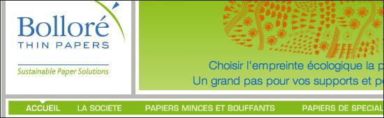 Bolloré - (Thonon-les-Bains - Haute-Savoie - 74) - www.bollorethinpapers.com