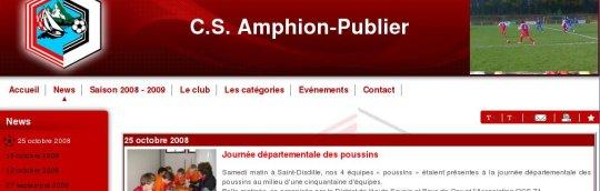 CSAP Club Sportif 74 AMPHION-PUBLIER www.csamphionpublier.com (Pack PRO SYScasi)