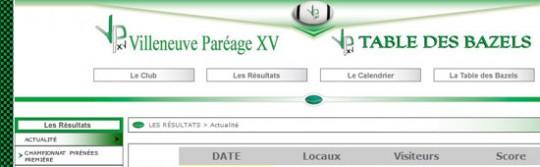Club de rugby à XV de Villeneuve du Paréage - La Table des BAZELS (Villeneuve du Paréage - Ariège-Pyrénées - 09) -  www.villeneuvexv.info