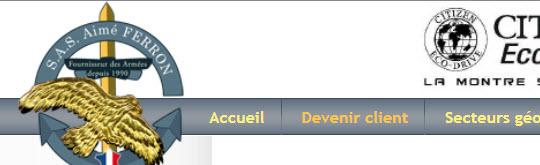 SAS Aimé FERRON - Fournisseur des armées depuis 1990 - 31 FONTENILLES - www.sasaimeferron.fr