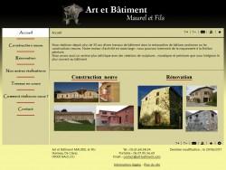 Art et Bâtiment, Maurel et Fils - Restauration de bâtisses anciennes ou constructions neuves - 09000 BAULOU - www.art-batiment.com