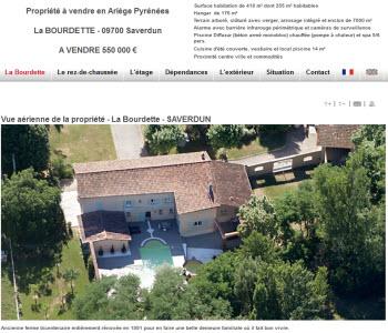 Visites virtuelles 360° du Rez-de-chaussée (7 panoramas) et de l'étage (8 panoramas) - site PRÉsence PRO SYScasi en langues française www.proprieteavendre-pyrenees.com