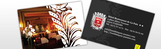 Cartes de visie de l'Hôtel de la Paix
