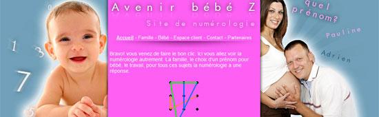 Avenir Bébé Z site de numérologie - www.avenirbebez.com